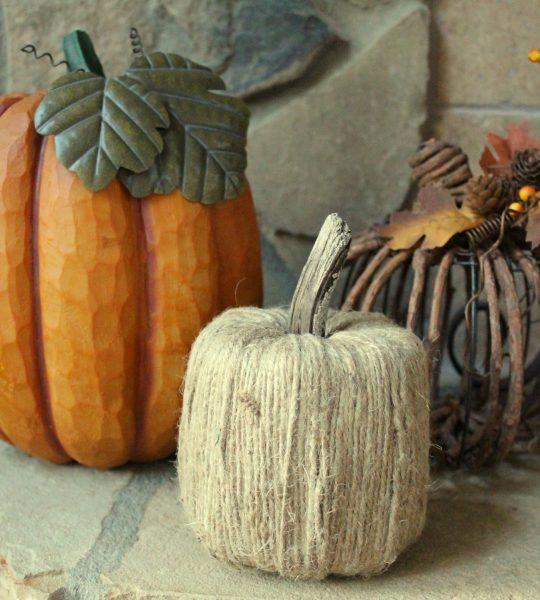 DIY Tissue Paper Pumpkins