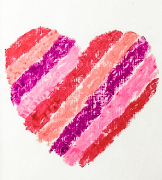 Lipstick Heart Valentines